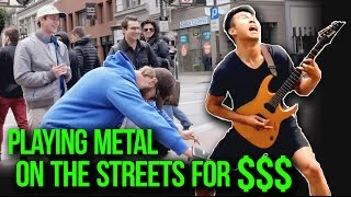 Playing Metal on The Streets For $$$   w/ LIVE AUDIO   Street Metal