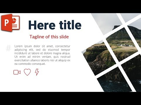 Grid Slide Design with an Image in PowerPoint 2016