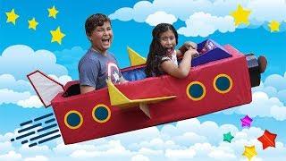 Maria Clara e JP fingem ser piloto de avião por um dia ✈️ Pretend Play as Pilot