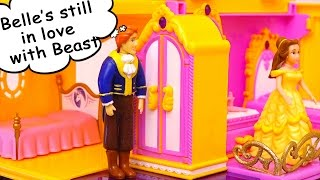 Belle Misses Beast & Adam is Jealous ! Toys and Dolls Fun with Polly Pocket | SWTAD