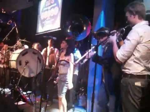 Valerie by The Hackney Colliery Band feat. drunk Amy Winehouse at Jazz Cafe Camd