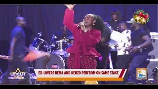 Ex lovers Rema and Kenzo perform on same stage| Uncut