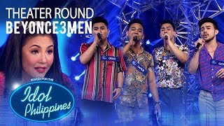 "Beyonce3men sings ""I'll Make Love To You"" at Theater Round 