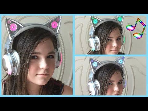 Testing/reviewing Ariana Grande LED Cat Headphones