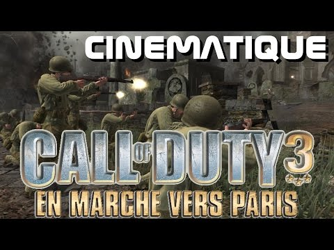 VGA Call of duty 3 en marche vers Paris cinematique activision ps3 ps2 xbox 360 wii 2006 HD