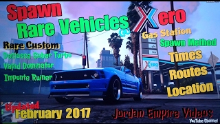 GTA 5 Rare Vehicle Spawn Location - Xero Gas Station Spawn Method (Spawn Rare Custom Vehicles)
