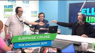 Surprising Engineer Jeff with a Norwegian Cruise Line cruise | Elvis Duran Exclusive