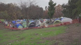 Homeless camp at Modesto's Beard Brook Park faces overcrowding
