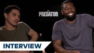 The Predator's Augusto Aguilera & Trevante Rhodes Joke About Predator's Evolution | TIFF 2018