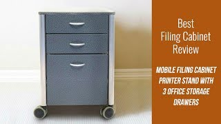 Top Filing Cabinet Review - Mobile Filing Cabinet Printer Stand with 3 Office Storage Drawers