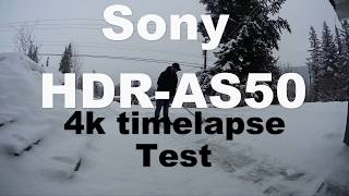 Sony HDR-AS50 Time lapse Test 4k Snow shoveling