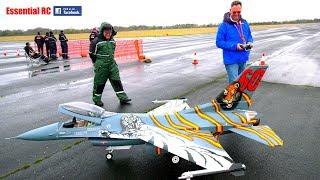 GIANT 1:5 SCALE radio controlled F-16 (Zedjet, Jet Legend, Evojet 220 EX, Futaba mz18WC)