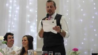 Funny and heartwarming Father of the Bride Speech