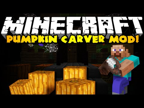 Minecraft Pumpkin Carving Mod: CUSTOM CARVE YOUR PUMPKINS!
