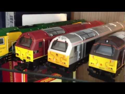 A quick review showing the latest update of my current OO gauge collection, mainly Hornby with a few Bachmann and Lima models etc. There are a few limited ed...