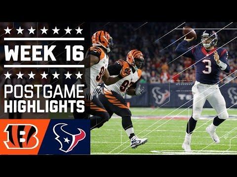 Bengals Vs Texans Nfl Week 16 Game Highlights