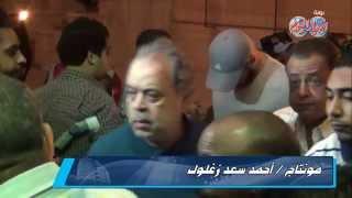 اشرف زكي في عزاء الفنان خالد صالح