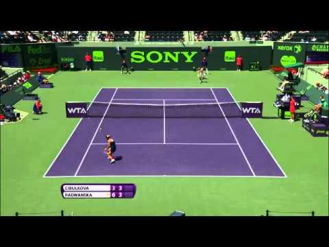 Sony Open Tennis Cibulkova vs Radwanska Highlights 3-26