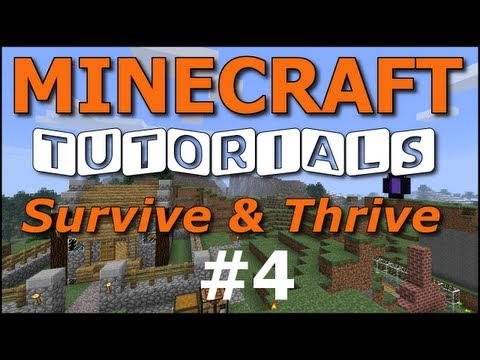 Minecraft Tutorials – E04 Hunger, Food, Cooking (Survive and Thrive II) – 2MineCraft.com