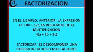 FACTORIZACION INTRODUCCION.wmv