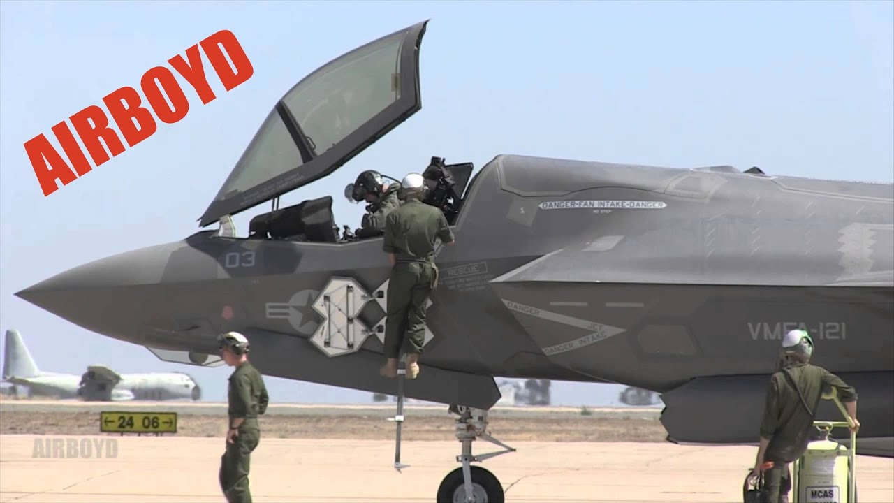 F-35B Lightning II Departing Miramar - YouTube