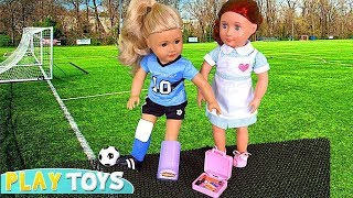 Play American Girl Doll Sports Day and Doctor Toys! 🎀