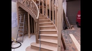 How to make the best designer oak curved staircase.