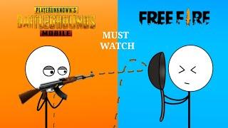 PUBG Gamers vs Free Fire Gamers