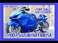 2007 Suzuki Hayabusa GSX1300R GSXR 1300 Motorcycle Blue FOR SALE: 305-772-8635