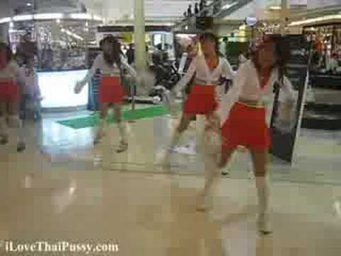 Bangkok Cheerleaders selling TVs Video