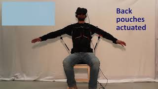 Soft haptic device to render the sensation of flying like a drone
