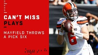 Baker Mayfield Tosses an Early Pick 6