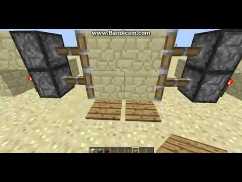 Обучение,как сделать механическую дверь в MineCraft