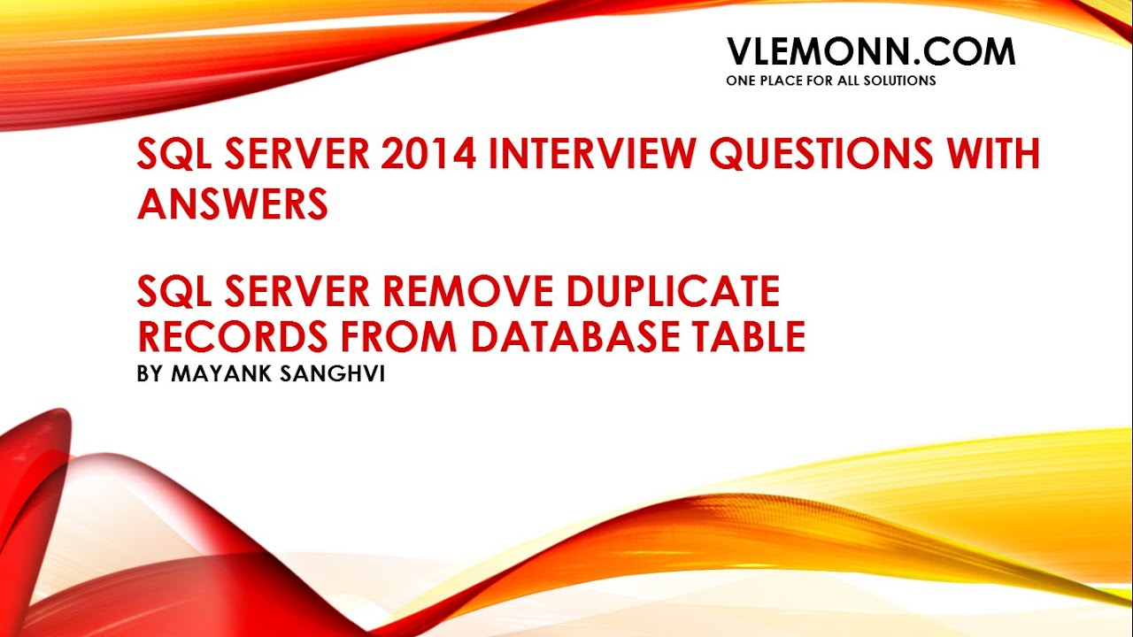 Server interview questions