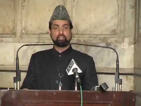 Chairman APHC Mirwaiz Umar Farooq at Jamia Masjid Delhi 17/02/2012b