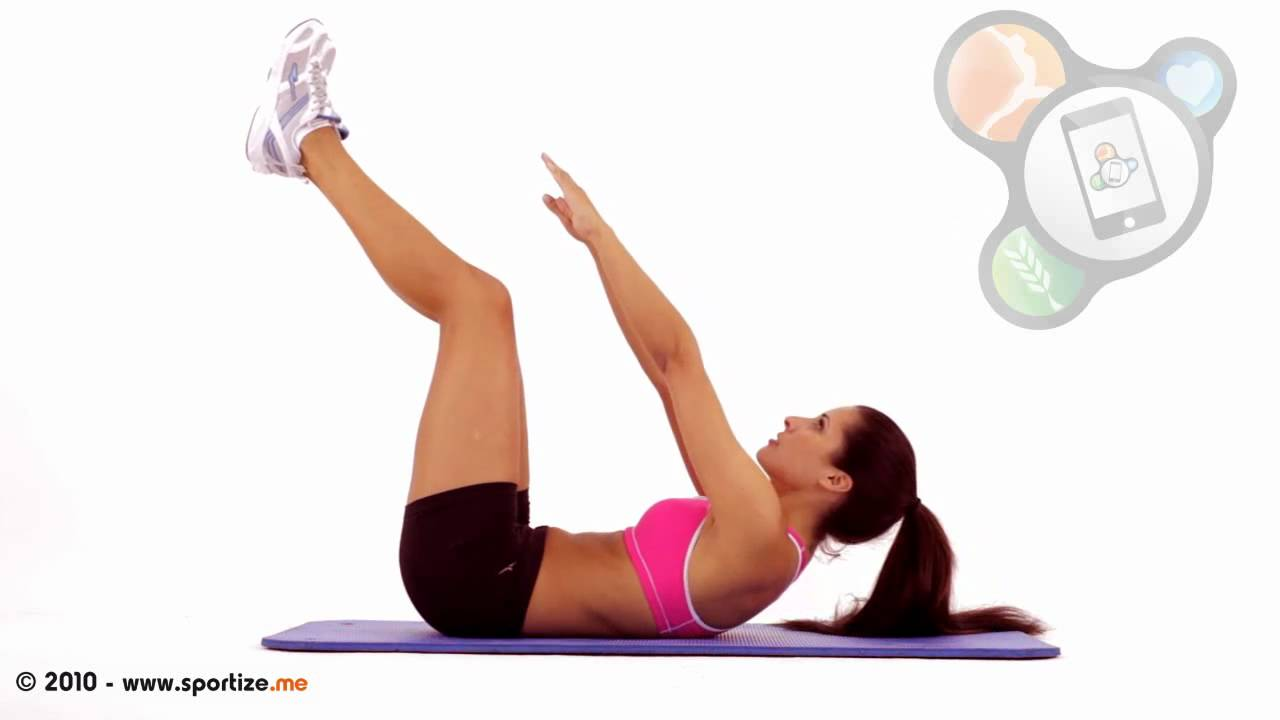 Crunch With Legs Elevated Vertical Leg Crunch