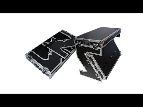 ProX XS-ZTABLE Portable Z-Style Dj Table Flight Case with handles & wheels
