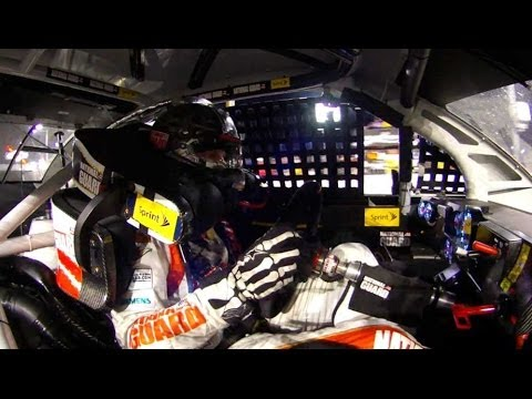 Harvick's in-car final lap pass on Junior