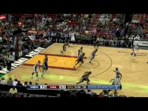 Grizzlies vs Heat (NBA Highlights) 13/12/2009 Video