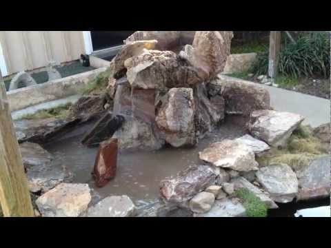 Re-building a waterfall for a koi pond
