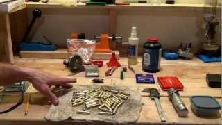 Reloading .223 Remington - 50 rounds on a single stage press from start to finish - HD