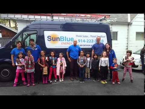 Happy Mother's Day Mother Earth! Girl Scouts at Solar Company SunBlue Energy in Westchester NY
