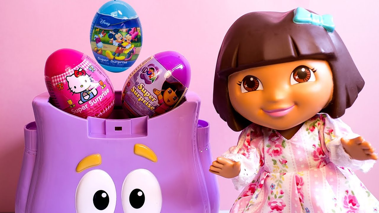 Dora The Explorer Peppa Pig Mickey Mouse Huevos Sorpresa - YouTube