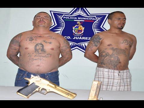 """Sicarios del """"Chapo"""" Guzmán capturados con pistola """"chapeada en oro"""""""