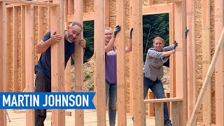 It's Time to Lift a 40-Foot Exterior Wall Frame | Off Grid Cabin Build #17