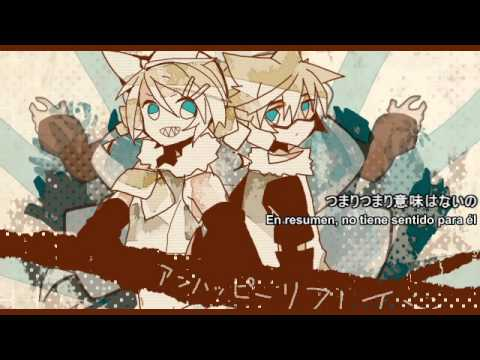 Kagamine Rin & Len - Unhappy Refrain  「sub Esp」 video