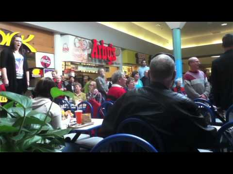 Christmas Food Court Flash Mob. Hallelujah Chorus - Must See!