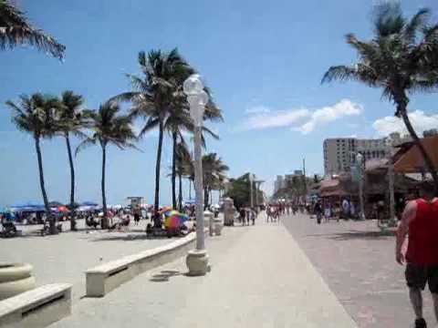 #1 BEST Florida Summer Vacation Destination:Hollywood Beach Florida &amp; its Unique Boardwalk