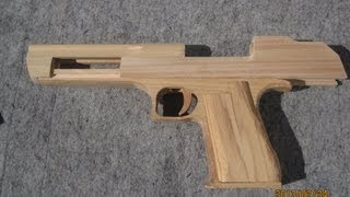 BLOW⇔BACK RUBBER BAND GUN 04.0 I.W.I DESERT EAGLE making the body