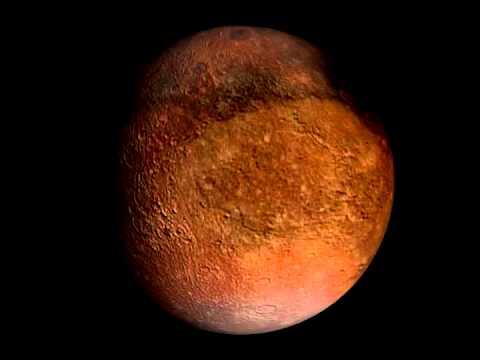 Rotation 3D de Charon, satellite de la planète Pluton